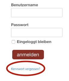 PassworVergessen