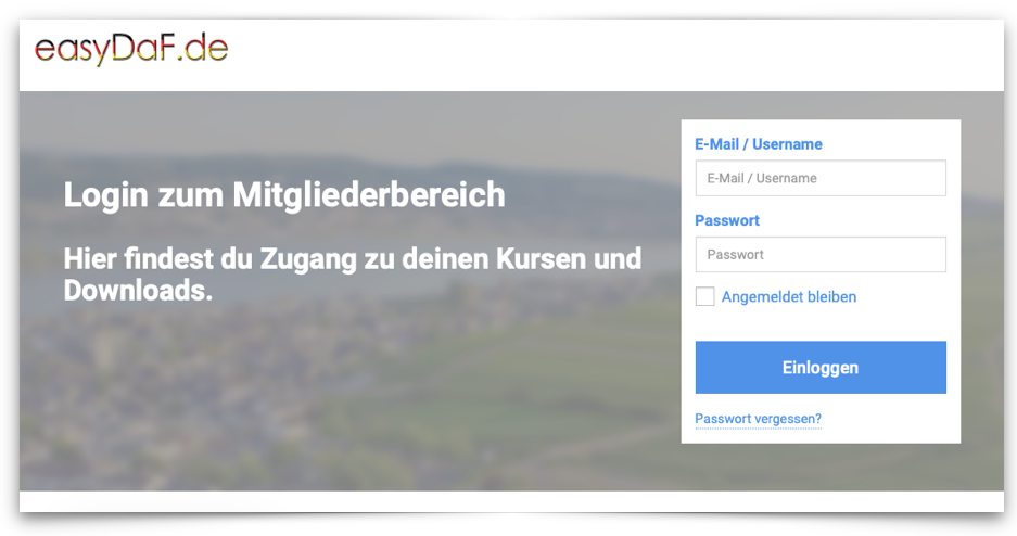 Login Deutsch